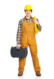 Young handsome builder stock images