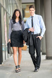 Young And Handsome Business Couple Royalty Free Stock Photos