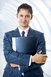 Young, handsome business man stock image