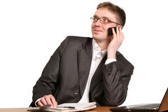 Young handsome business man Stock Images