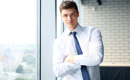 Young handsome business man Royalty Free Stock Images
