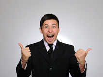 Free Young Handsome Business Man Screaming Stock Photo - 18252200