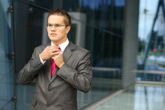 A young and handsome businessman Stock Photography