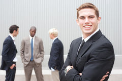 Young handsome businessman Stock Image