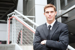 Young handsome businessman Stock Photography