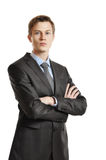 Young handsome businessman Royalty Free Stock Photos