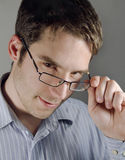 Young handsome businessman. Good looking young businessman with glasses Royalty Free Stock Photos