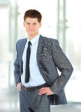 The young handsome businessman Stock Images