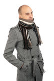 Young handsome businessman in autumn clothes Royalty Free Stock Photography