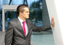 A young and handsome businessman in formal clothes Stock Photography