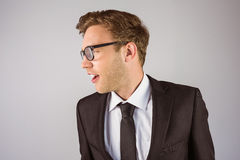 Young handsome businessman looking away Royalty Free Stock Photography