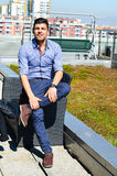 Young handsome businessman outdoor Royalty Free Stock Photo