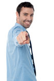 Young handsome businessman pointing at you Stock Photography