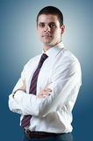 Businessman with necktie Stock Photos