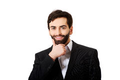 Young handsome businessman standing. Stock Photos