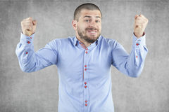 Young handsome businessman success Stock Photo