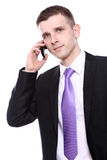 Young and handsome businessman using cellphone Royalty Free Stock Images