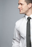 Young handsome businessman in white shirt. Stock Image