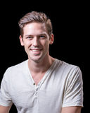 Young Handsome Caucasian Male Smiling Stock Image