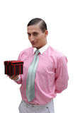 Young handsome confident businessman Stock Image