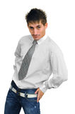 Young handsome confident man Stock Photos
