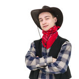 Young handsome cowboy Stock Photo