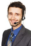 Young handsome customer service operator Stock Image