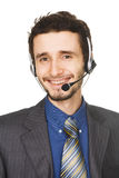 Young handsome customer service operator Royalty Free Stock Images