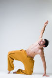 Young handsome dancer exercising Stock Photo