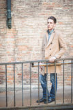 Young handsome fashion model man Royalty Free Stock Photography