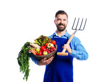 Young handsome gardener Royalty Free Stock Images