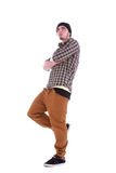 Young handsome guy with a modern clothes Stock Photography