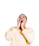 A young handsome  guy stressed, yelling out at someone Royalty Free Stock Photography