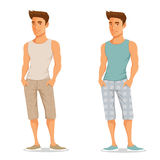 Young handsome guy in summer clothes Stock Photo