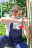 Young handsome handyman Royalty Free Stock Photography