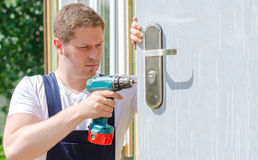 Young handsome handyman Royalty Free Stock Photo
