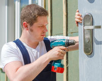 Young handsome handyman Royalty Free Stock Photos
