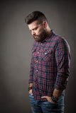 Young handsome hipster with beard Stock Photo