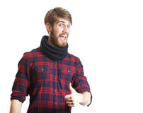 Young handsome hipster royalty free stock photo