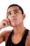 Young and handsome latin man Stock Photography