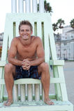 Young handsome lifeguard Stock Photos