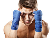 Young Handsome Male Boxer Stock Photo