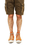 Young handsome male in shorts Royalty Free Stock Images