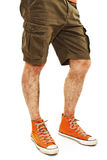 Young handsome male in shorts Stock Photos