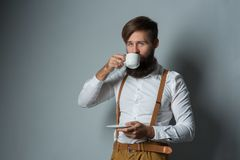 Young handsome man with a beard royalty free stock image