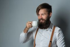 A young man with phone stock photography