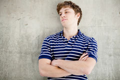 Young handsome man with blond hair. Royalty Free Stock Images
