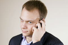Young handsome man On the cellphone Stock Image