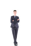 Young handsome man in a classic suit Royalty Free Stock Photography