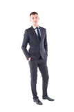 Young handsome man in a classic suit Royalty Free Stock Image